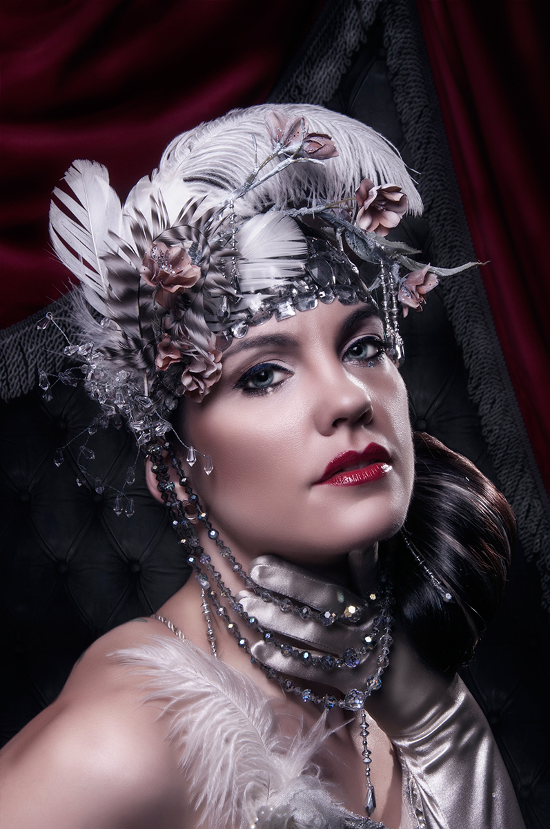 Topher Adam Busenburg - Zoe Jakes - hair Lorenzo Diaz Hair-Design - makeup Alicia Marie - headdress - Christina Molcillo