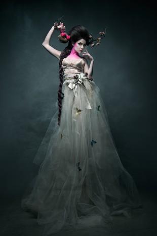 DayJaVUE - Morgan Dru - makeup by model - designer is photographer