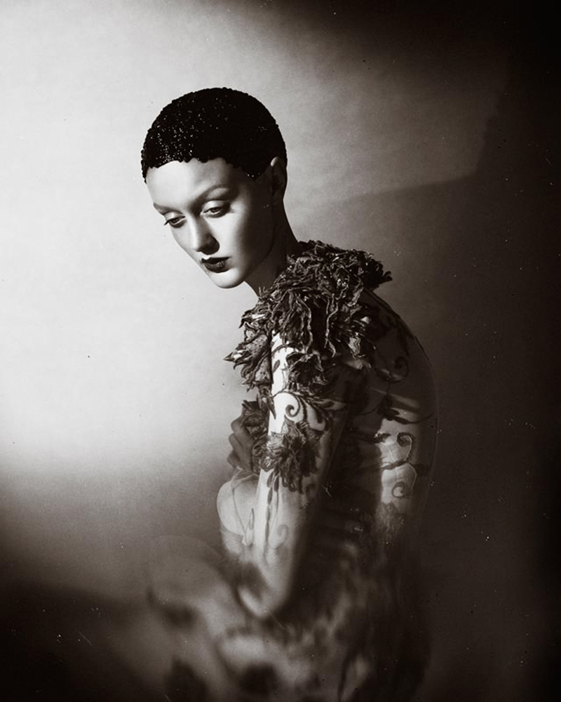 Elizaveta Porodina - Nele Hmn - hair:makeup Heikopalach - dress Irene Luft - stylist Susanne Marx