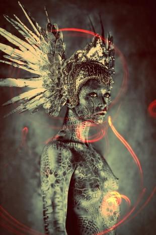Ash Gupta - headpiece Miss G Designs - body paint Michael Rosner (Eye Level Studio)