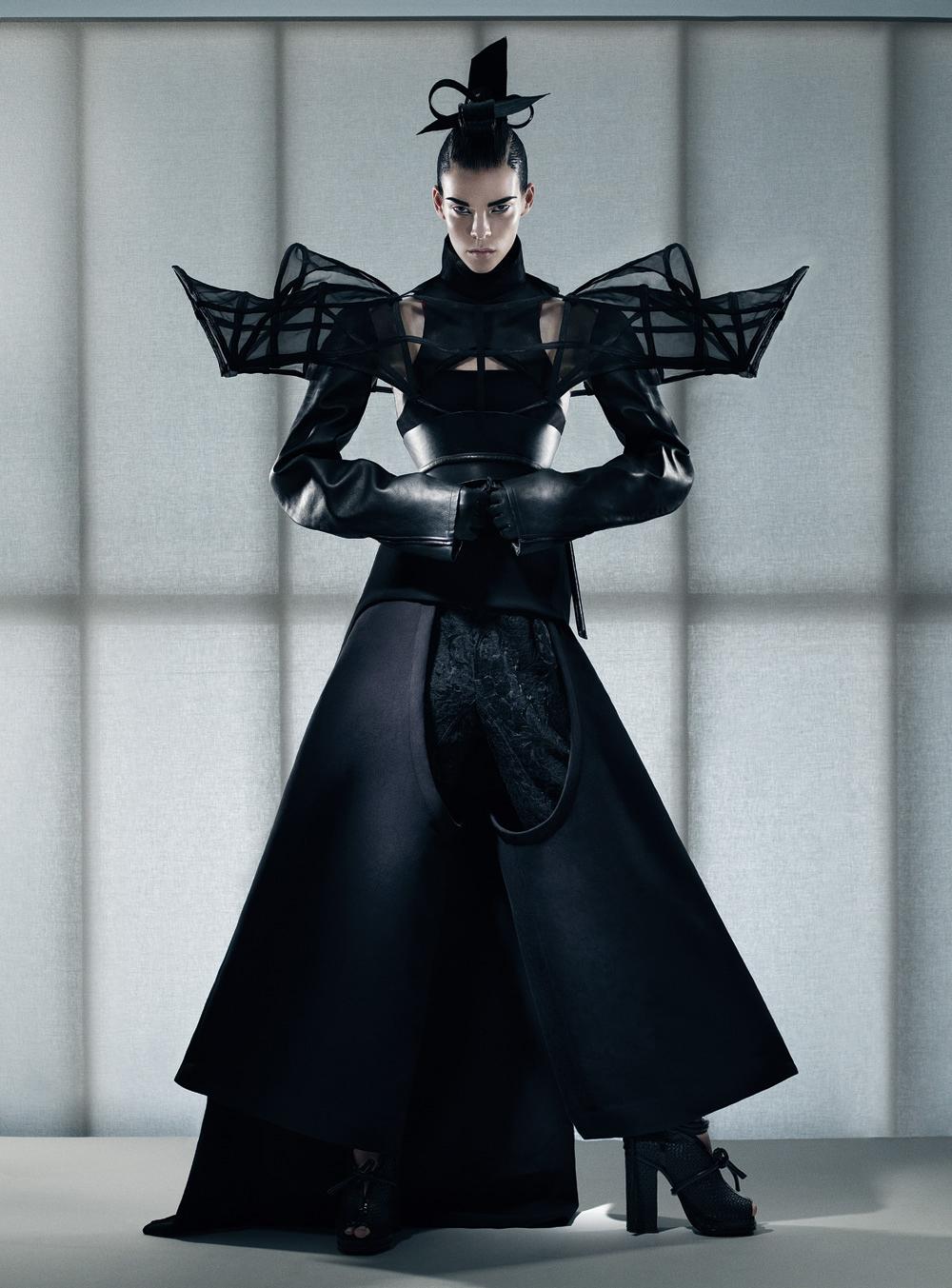 Fabien Baron - Meghan Collison - stylist Karl Templer