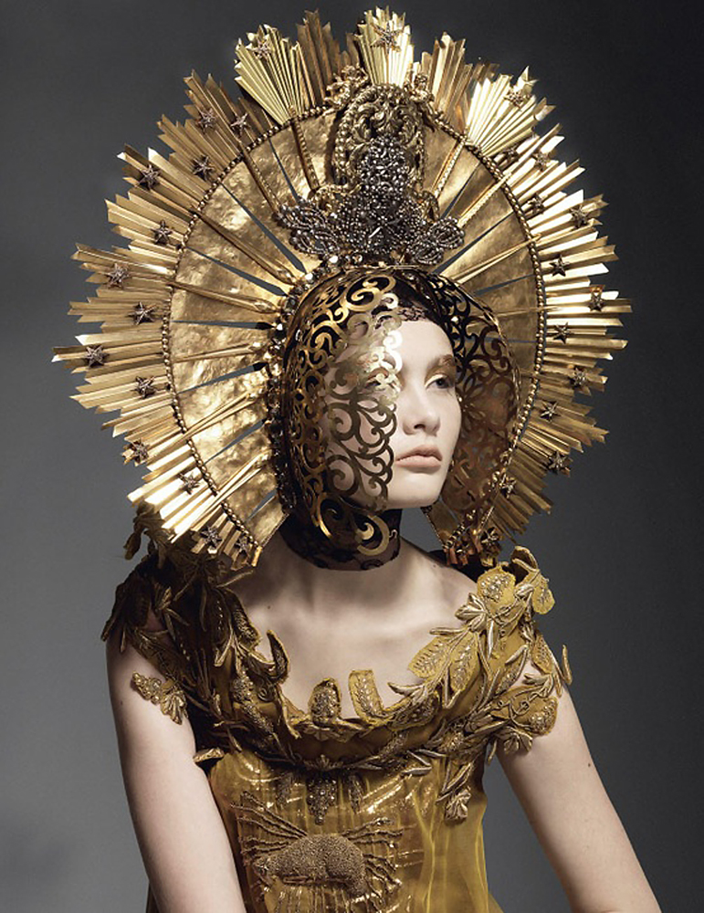 Joachim Baldauf - Sheila Baum - headpiece:dress Jean Paul Gaultier
