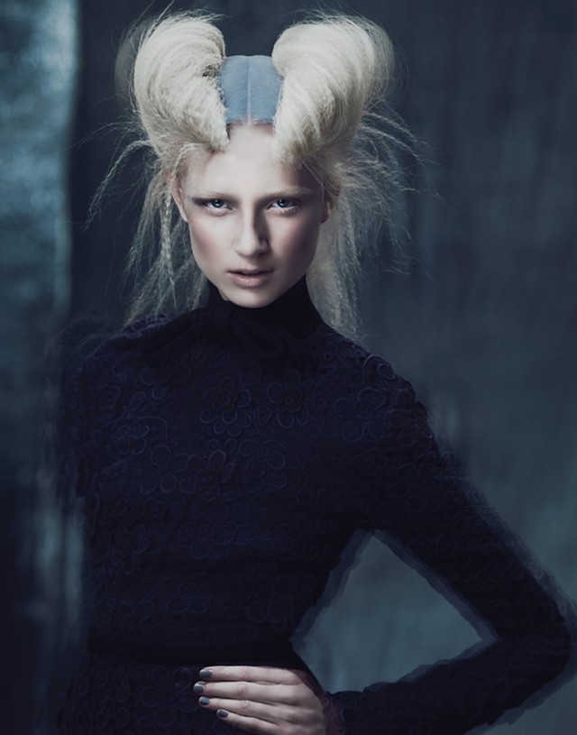 Andrew Yee - hair:creative direction Antoinette Beenders (Aveda Global Creative Director) - hair colour Ian Michael Black - makeup Nives Riddles - stylist Damien Fox