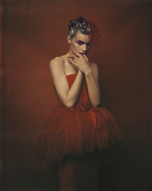Paolo Roversi - Guinevere van Seenus - dress Yves Saint Laurent