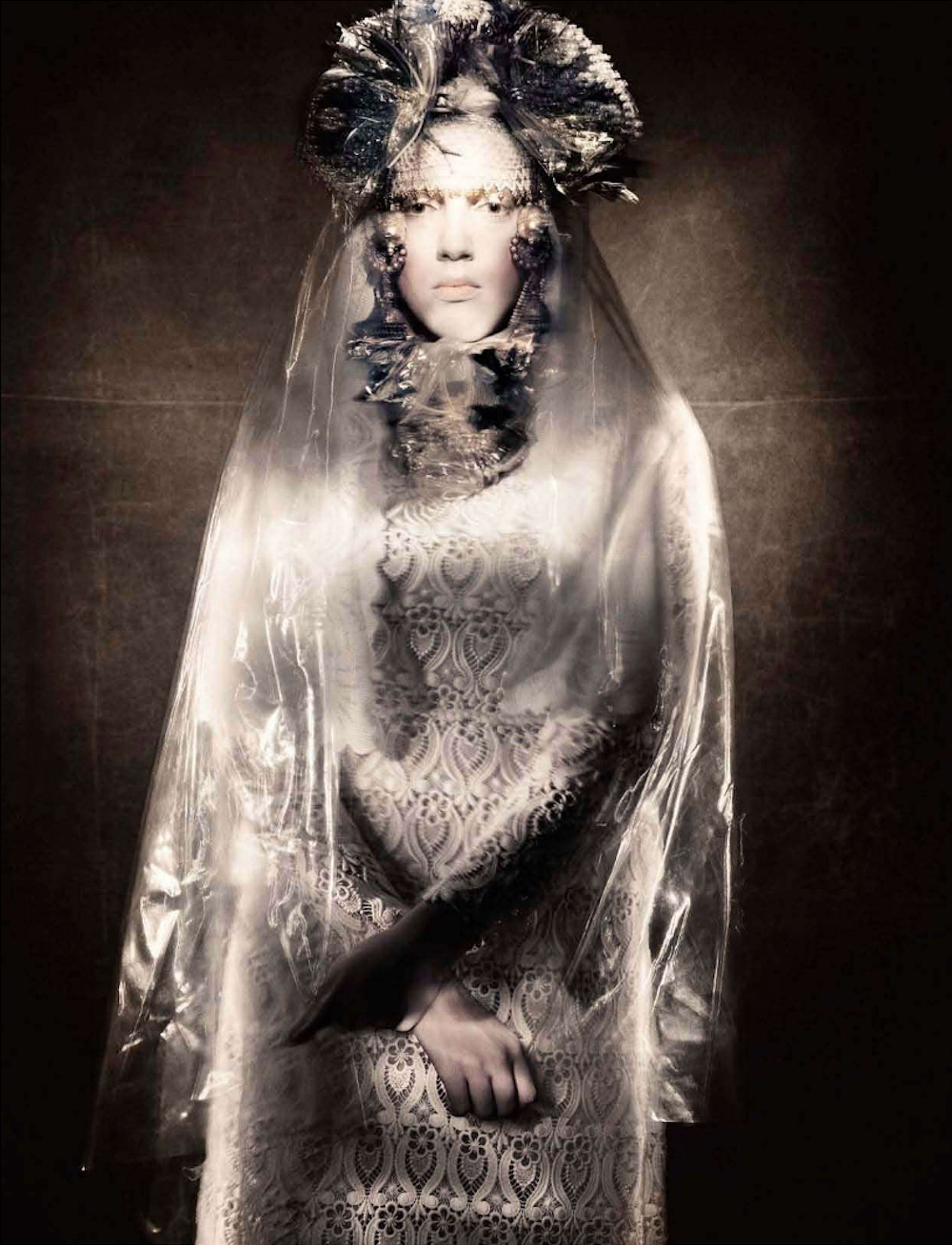Paolo Roversi - Yana Sheptovetskaya - stylist Cathy Edwards - hair Marc Lopez - makeup Lucia Pica