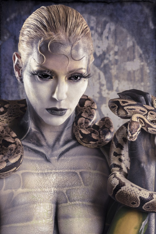 Scott E. Detweiler - Heather Stern - body paint Otto Kustomz - makeup:stylist Nada Stevic - reptile owner Christopher