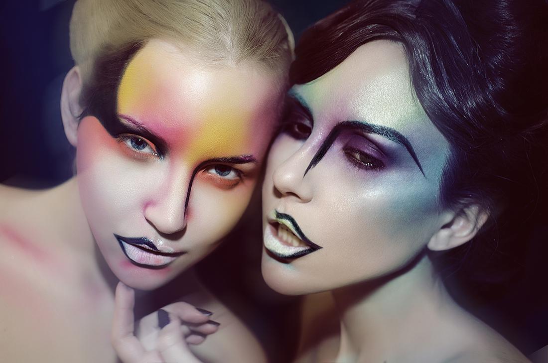 M.W - Natasza Nalewajek and Line Vanille - makeup Marika d'auteuil