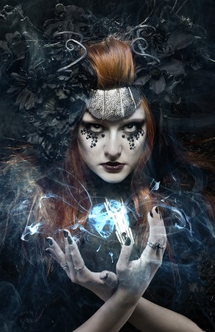 "Jhoana Tamayo - Mihola Terzik - makeup Paula Lanzador - headpiece:stylist Jalisa Ocean - post Airi Beltran - assistant Francis Garrucho""Phantom Queen"""