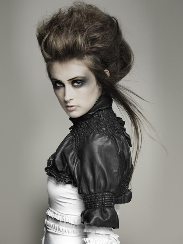 David Alexandre - Francesca @ Profile - hair Gergana Madzharova - makeup Sian Duke - designer Rachel Freire