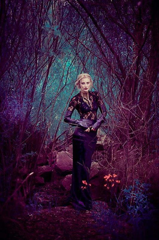 Katherine Anne - Małgorzata Chara - designer is model - assistant Tomasz Binkowski