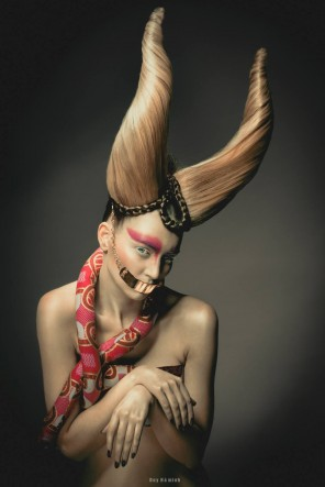 Duy Ha Minh - A-Claire Artistique - hair Pierre Ginsburg - makeup Alex Marjolaine Mazens - designer Droops Creation