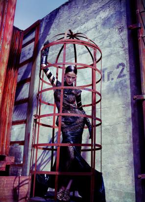 Elizaveta Porodina - Lena Melcher @ IMG Models - hair makeup Heiko Palach - stylist Brigitte Wilhelm - designer Katarzyna Konieczka - set designer Beatrice Schuell @ Les Artists - light tech Josef Beyer