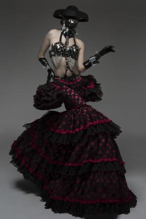 Alfaro Lenoir - Susi Romero Esteve - makeup Didi Maquiaveli - stylist Adrian Camison and Borja Pony - designers Jose Luis Diaz Megia and Manuel Albarran