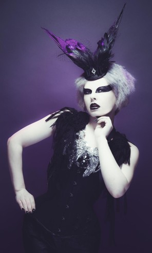 Jamie Mahon - Integra Fairbrook - hair makeup Phili Moore - corset garter Battie Clothing - headpiece shoulderpiece Sophie Adamson