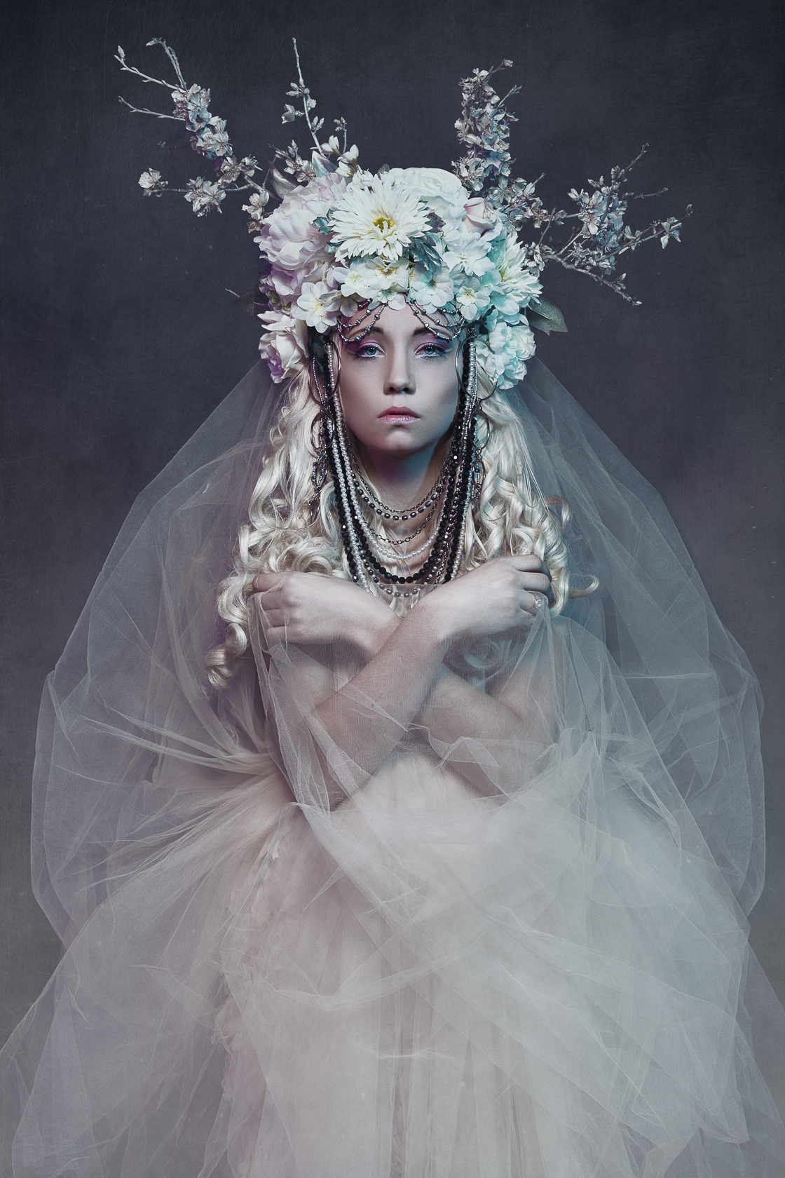 Pascal Latil - Emie - hair Christophe Pujol - makeup Aline Carpentier - headpiece by photog