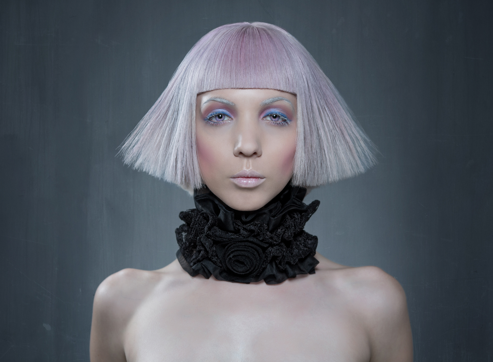 David J Meister Photography - Twigglet - hair Brenton Lee Salon - makeup Yuri Nakatsugawa - neckpiece Sumie Tachibana