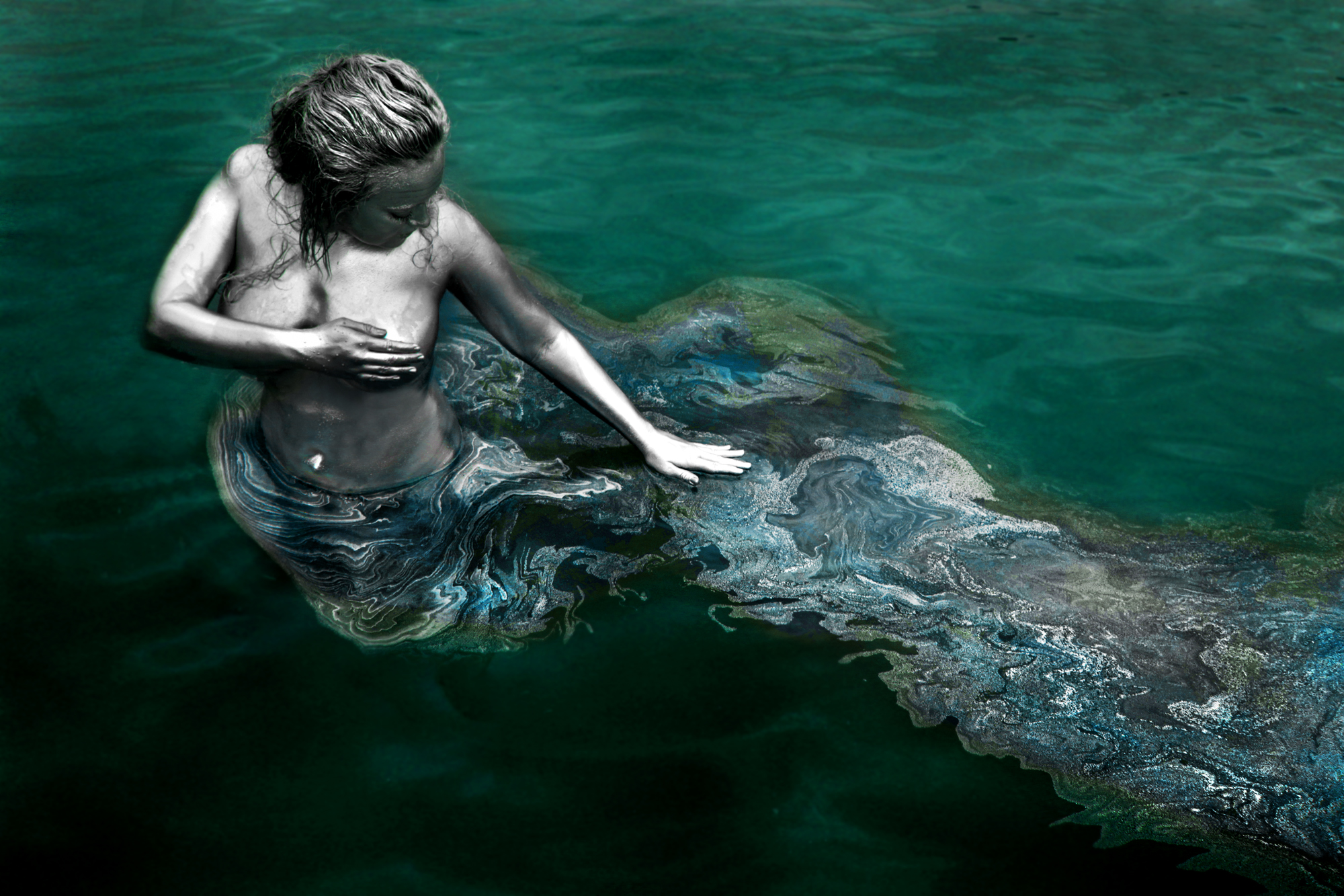 Dewayne Flowers - Amanda Lusk Colwell - body paint by photog
