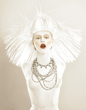 Alf Caruana - Sally Ersch - makeup body paint Lizzie Sharp - stylist headpiece Joel and Taryn Gionis