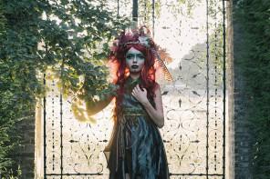 Daniel Barter Photography - Lilu Khaos - makeup Joanna Strange MakeUpAndHair - stylist is model - assist Caroline Benn Photographer and Antony Asciak - Forest Nymph
