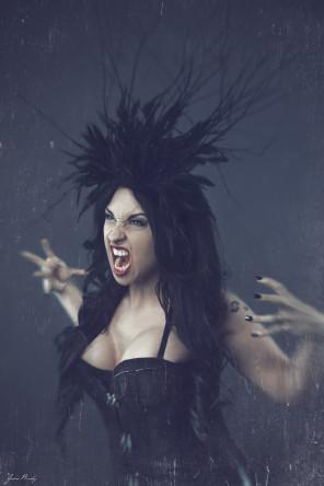 Jason Busby - Vanessa Michelle Filth - hair makeup headpiece Sydney Myers