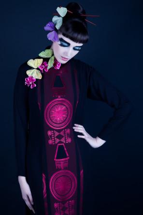 Kirsten Thys van den Audenaerde - Sara Scarlet Model - makeup Kittie Amber (Romy Bollion kittie amber) - latex HW Design