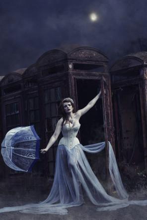 Stevie-Ella Keen - Miss Deadly Red - makeup Victoria Percival Makeup - corset Morua Designs - tiara Samantha Walden Tiaras - Goodnight