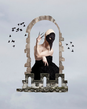 Jade Starmore - Jade Adamson - makeup June Long - mask Grin Grimace & Squeak - designer Saunt & Sinner - Raven