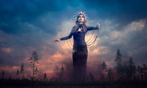 Jukka Alasaari Photography - Valentina (valentinefromhell) - hair makeup Mia Rikberg - headpiece Mysteria Machine