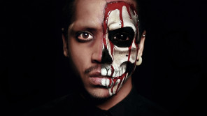 Jak Flash (flashyourjak) - makeup by photog - video tutorial youtu.be:kI4VoYso_FE - Blood Skull