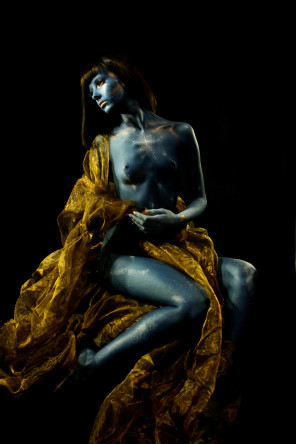 Amber Michael - Victoria Singleton - hmua body paint by photog - Egyptian Goddess
