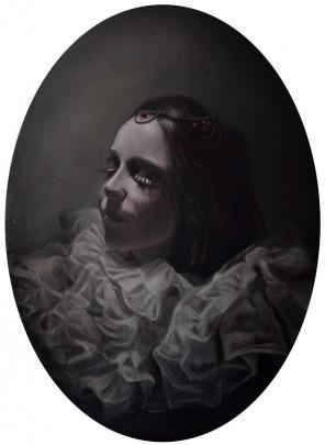 Martina D'Anastasio (SineSenzeArt sinesenze.com) - Mary BlackCat Pandora - medium oil on canvas board - Eclipse