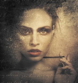 Janine Machiedo Photography - self-portrait - Late Night Letters