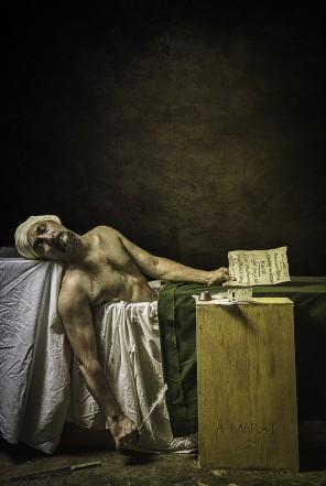Mark Rodriguez (eclecticanima ig the_godriguez el tw markgodriguez g+ 110573952887886961621) - self-portrait - Death of Marat