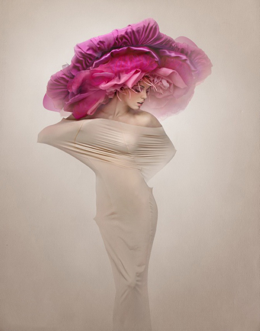 Женщина-цветок открытки