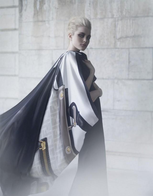 Karl Lagerfeld - Jessica Stam - designer Fendi