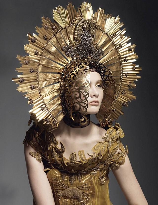 Joachim Baldauf - Sheila Baum - headpiece:dress Jean Paul Gaultier
