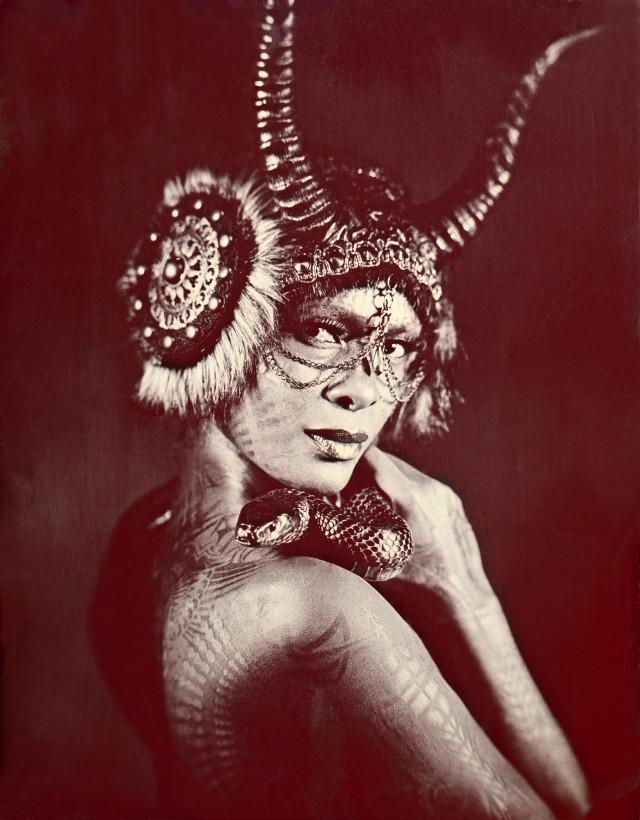 Allan Barnes - Summer Martin - makeup Linda Le - body painter Michael Rosner @ Eye Level Studio - headpiece Caley Johnson @ Miss G Designs - snake handler Daniel Solis @ Reptile Ave. - Lilith VIII