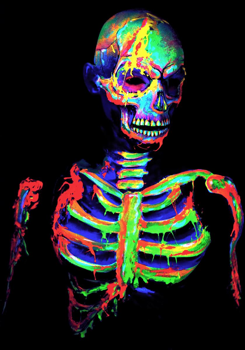 Neon Zombie Body Paint
